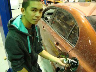 Adding fuel to car