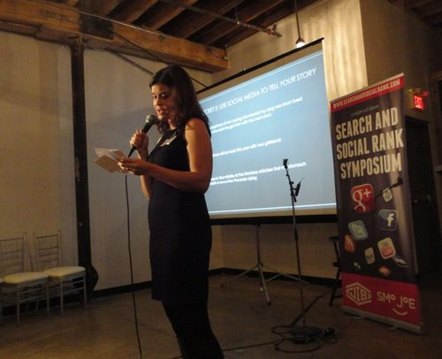Nikki Fitheringham spoke about storytelling and building readership on her eco friendly blog