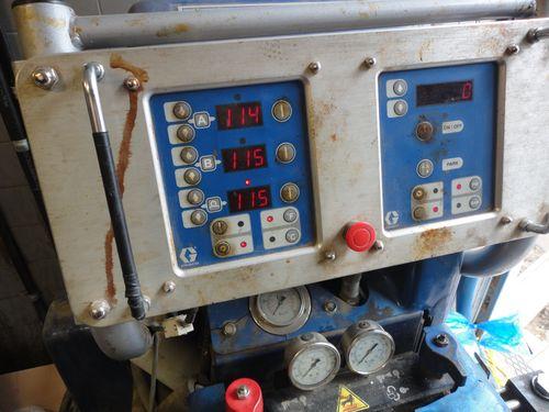 temperature display panel on REACTOR spray foam component proportioner ,