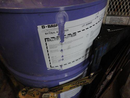 BASF WALLTITE ECO v.3 F RESIN, a purple barrel of walltite eco spray foam insulation resin,
